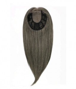 6*6 Claire 60% Grey Virgin Remy Human Hair Topper