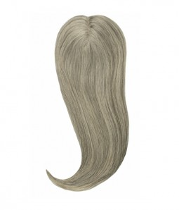 6*6 Claire 80% Grey Virgin Remy Human Hair Topper