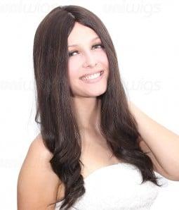 "Rina 16"" Remy Human Hair Injected Skin Top Jewish Wig"