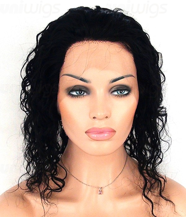 12 Quot Jazz Wet Wavy Full Lace Wig Medium Remy Human Hair Wig