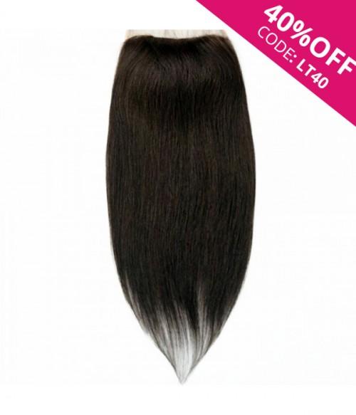 """6""""x6"""" Junie Straight Remy Human Hair Lace Hair Topper-darkest brown"""