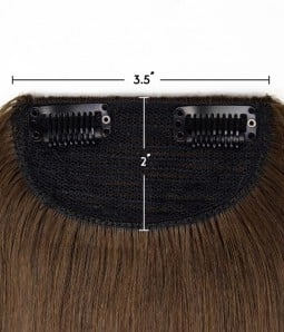 "2""*3.5""  Molly Large No Track Clip in Hair Piece"