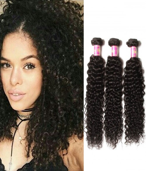 Jerry Curly Virgin Hair 3 Bundle Of Hair Weave