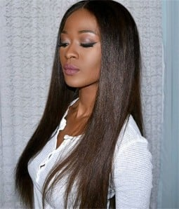 Straight 100% Human Hair Lace Wig