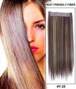 "16"" Straight Synthetic Piano Color Miracle Wire Uni-Hair Extension E51007-Y-25