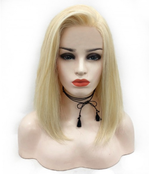 Cara -Remy Human Hair Lace Wig - 613 Platinum Blonde