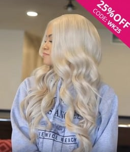 Rihanna Wave Remy Human Hair Ombre Color Lace Wig CL0444