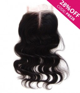 "4""x5"" Body Wave Free Part/Middle Part/Three Part Brazilian Remy Human Hair Lace  Closure"