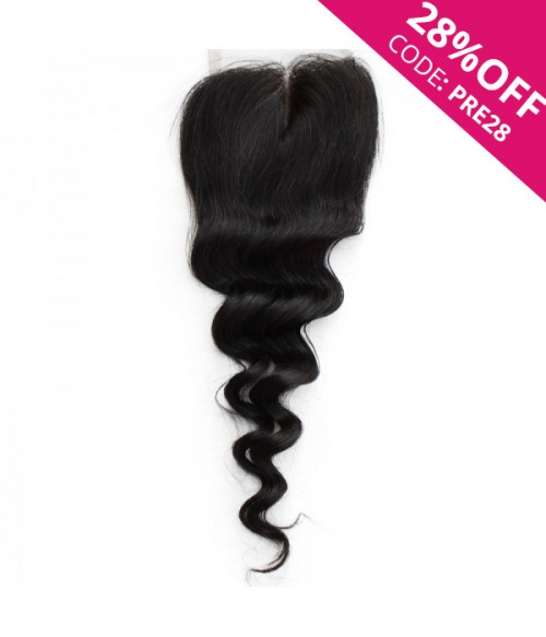 """8-20"""" 5""""x5"""" Loose Wave Free Part/Middle Part/Three Part Brazilian Remy Human Hair Lace Closure"""