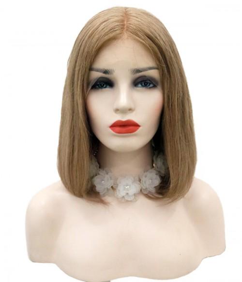 Custom Straight Bob 100% Remy Human Hair Lace  Wig