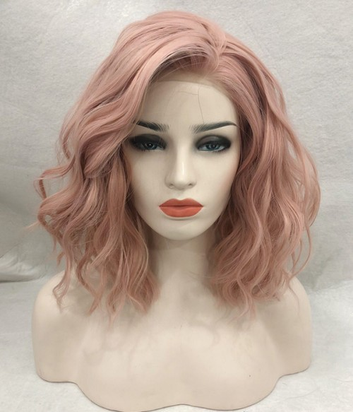 Black Swan - Coral Pink - Curly version
