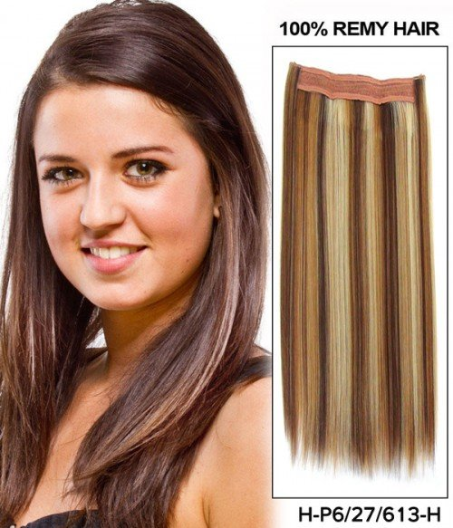 "16"" Human Hair/Synthetic Blend Piano Color Easy Volume E41006"