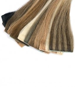 Joanna Single Piece Tape-In Remy Human Hair Extension (Color Swatch)
