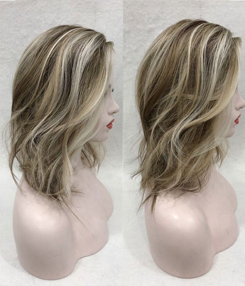 201R Permafrost | Cool Toned Blonde and Natural Gold Blonde Blend shaded with Pale Brown