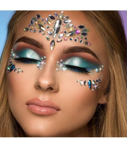 UniWigs Festival Diamond Face Sticker, Adhesive Makeup rhinestones