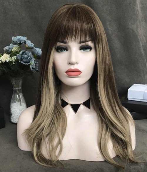 """5""""x2.75"""" Amelia Remy Human Hair Topper with bangs"""
