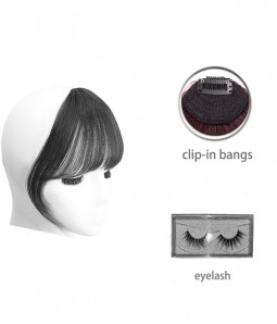 Gift Set Human Hair Bangs And Eyelashes