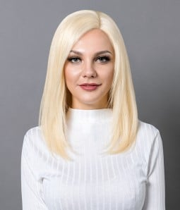 Cara | Shoulder Length 100% Hand-tied Remy Human Hair Full Lace Wig