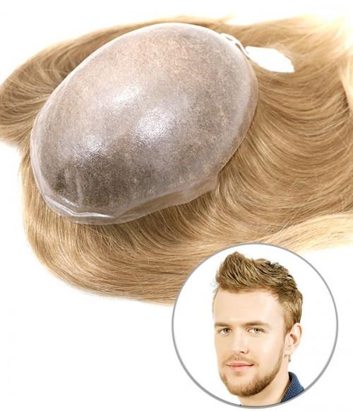 Cronus European Virgin Human Hair Toupee for Men | Full Skin