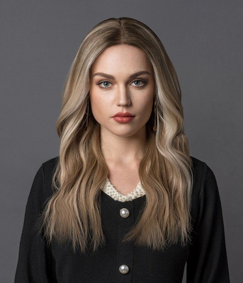201R - Permafrost | Warm Toned Blonde and Natural Gold Blonde Blend shaded with Pale Brown