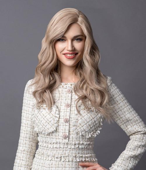 18-22 Wooden Blonde | Dark Ash Blonde blended with Baby Blonde