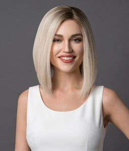 Kim | Inverted Bob 100% Hand-tied Human Hair Lace Wig | Hair Loss Friendly Cap