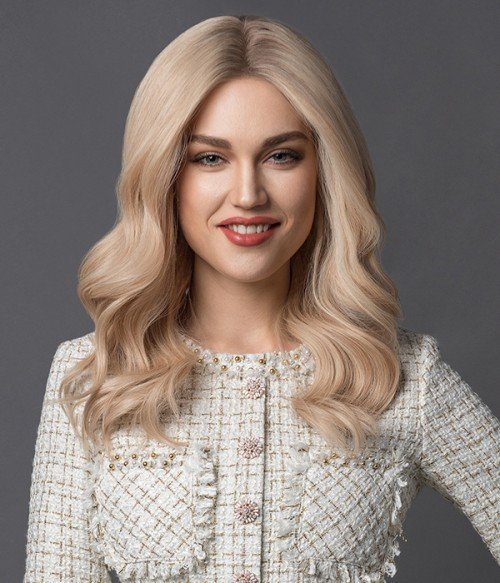 10R - Creamy Ice | Gold Blond blend with light blonde and Dark Roots