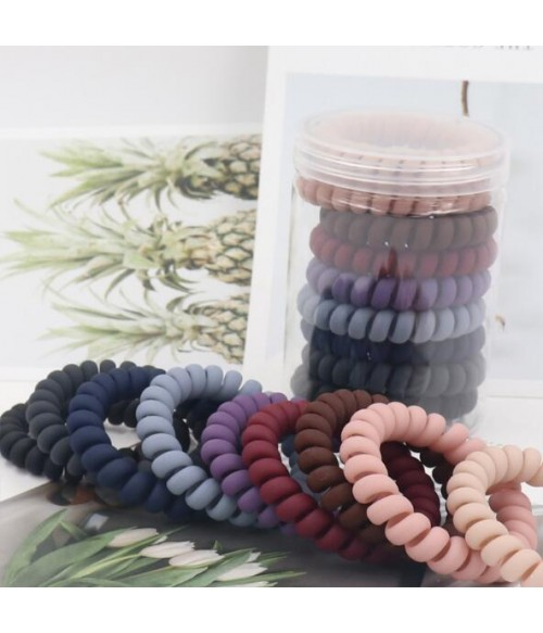 Elastic Spiral Hair Ties 9 Colors