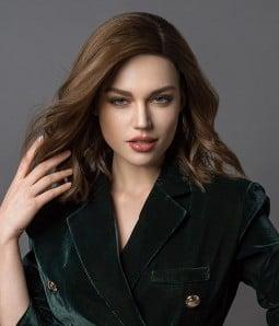 Zara | Layered Bob Brunette Balayage Remy Human Hair Mono Top Wig | Lace Front