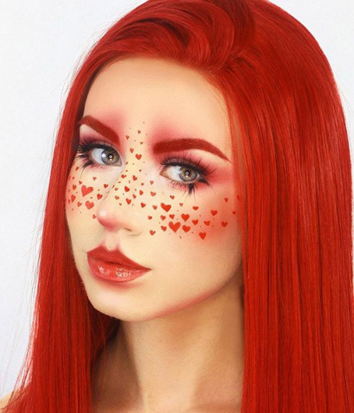 Pure Passion Rose Red Long Layered Synthetic Lace Front Wig | Ariel/ Jessica Rabbit