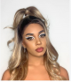 Desert Dream Blonde Balayage Long Natural Wave Synthetic Lace Front Wig
