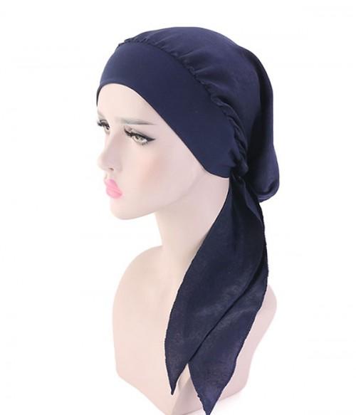 Printed Beanie Wrap Hat | Pre-Tied Scarf| | Satin Turban