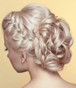 Pearl Rhinestone Twister Spiral Hair Pins Set (7 pcs)