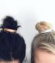 Chic Alloy Top Hair Bun Holder/ Bun Cuff with Hair Stick