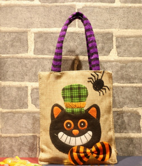 Limited Halloween Treat Tote Bags | Skull | Black Cat | Pumpkin | Witch