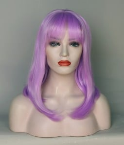 Limited Light Purple Synthetic Wig with Bang