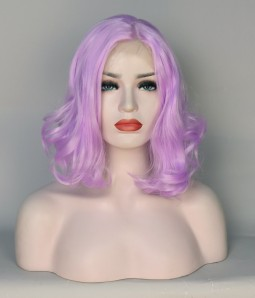 Limited Light Purple Wavy Synthetic Wig