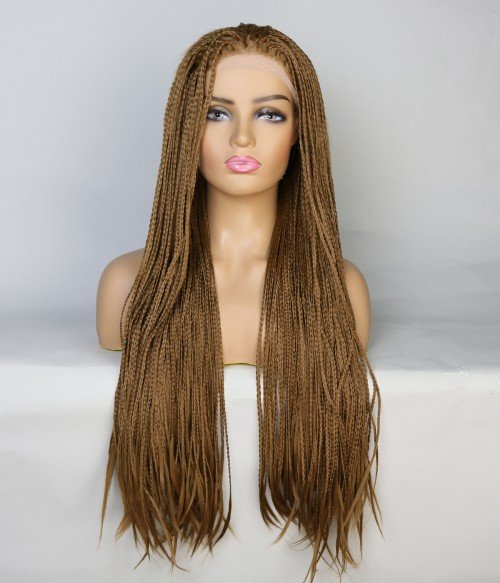 Limited Brown Long Braid Synthetic Wig