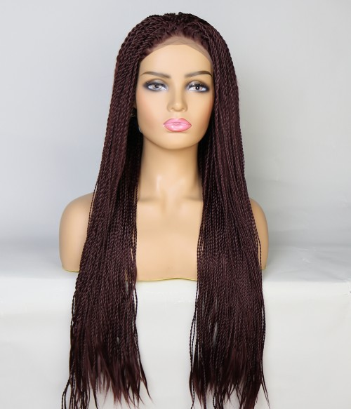 Limited Deep Brown Long Braid Synthetic Wig