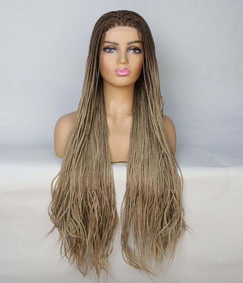 Limited Dark Blonde Long Braid Synthetic Wig