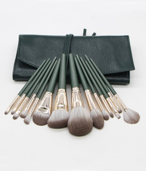 Powder 14 Pieces Makeup Brush Set +Bag
