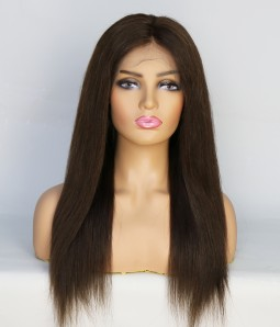 Natural Straight 100% Human Hair Glueless Full Handtied Lace Wig| Average Size | Clearance