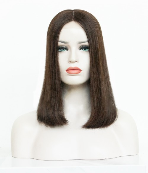 """7.5""""x8"""" Tessa   Silk Top Remy Human Hair Topper   Halo-wire   Lace Front"""