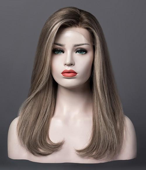 Ashton | Ash Blonde Balayage Remy Human Hair Mono Top Wig | Lace Front