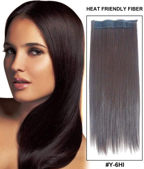 "16"" Straight Synthetic Flip In Hair Extension E51007-Y-6HI"
