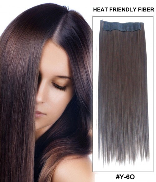"16"" Straight Synthetic Flip In Hair Extension E51007-Y-6O"