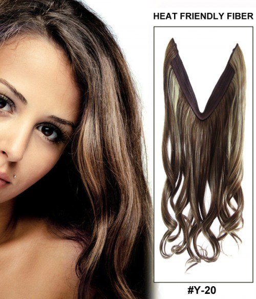 "16"" Wave Synthetic Piano Color Flip In Hair Extension E51006-Y-20"