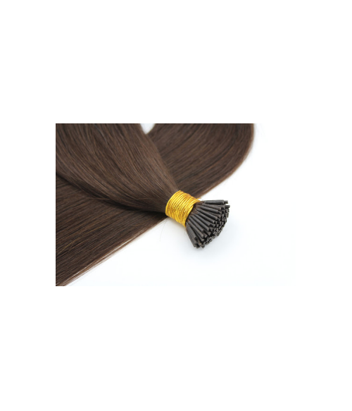 "Keratin I-Tip 18"" 30g Natural Straight Human Hair Extensions"