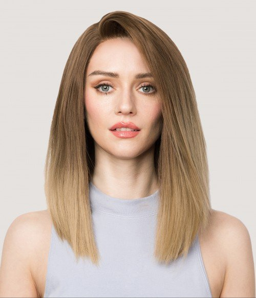 Nova | Ombre Inverted Bob Synthetic Lace Front Wig