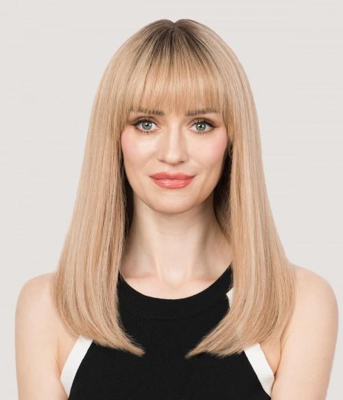 617R- Sandy Blonde |warm sandy blonde with dark roots